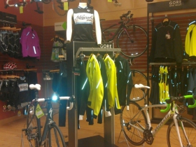Women's biking clothing and accessories. Photo by Mrinal Gokhale.