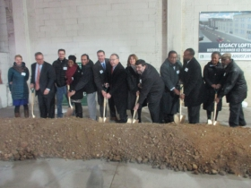 Ceremonial Groundbreaking for the Legacy Lofts
