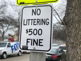 No Littering Sign