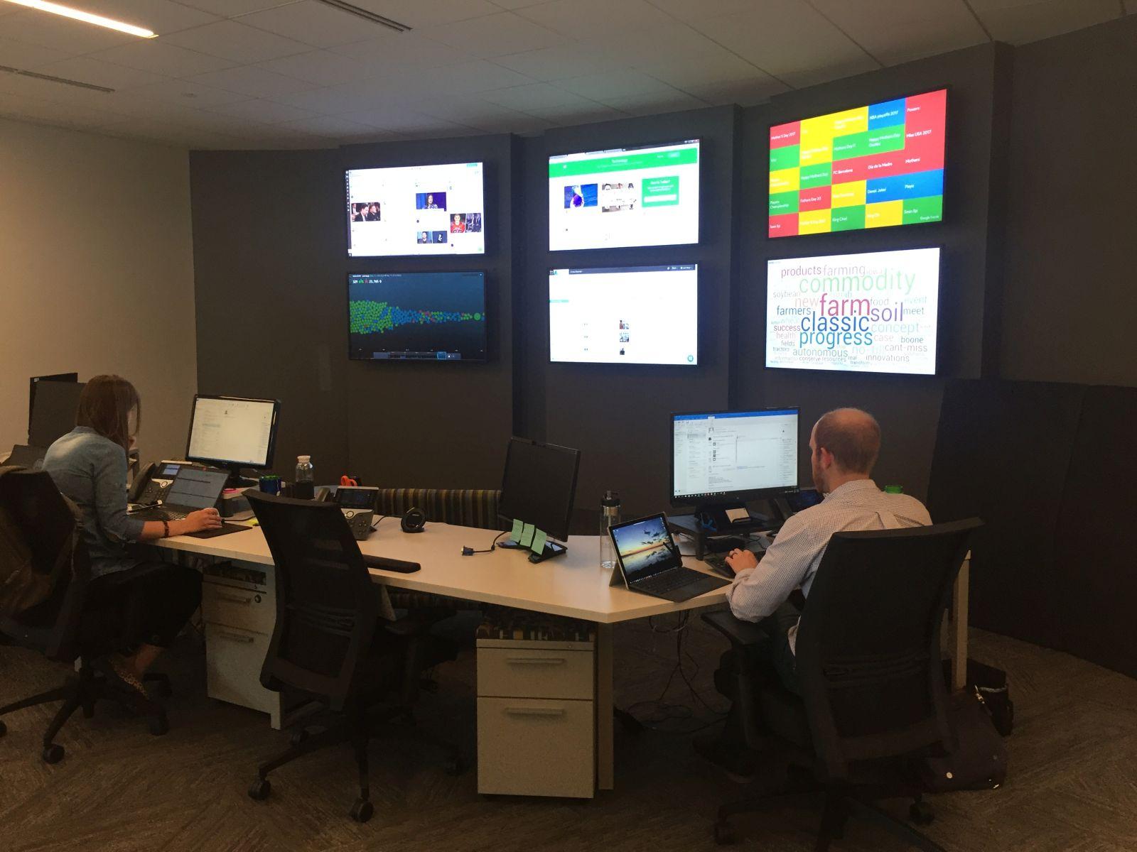 Social Media Monitoring Room