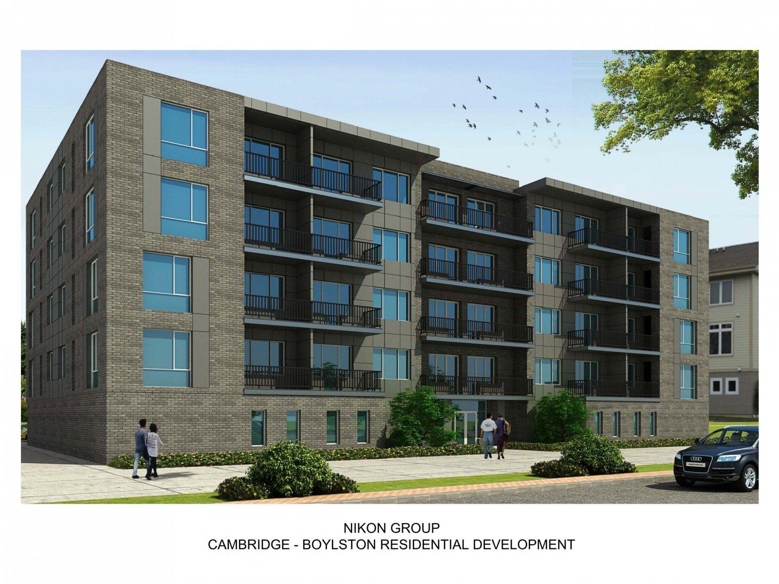 Cambridge - Boylston Residential Development Rendering