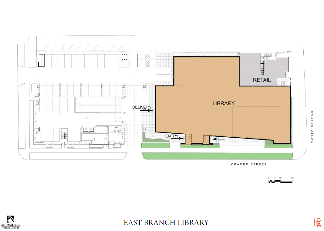 Conceptual Floor Plan for The Standard at East Library.