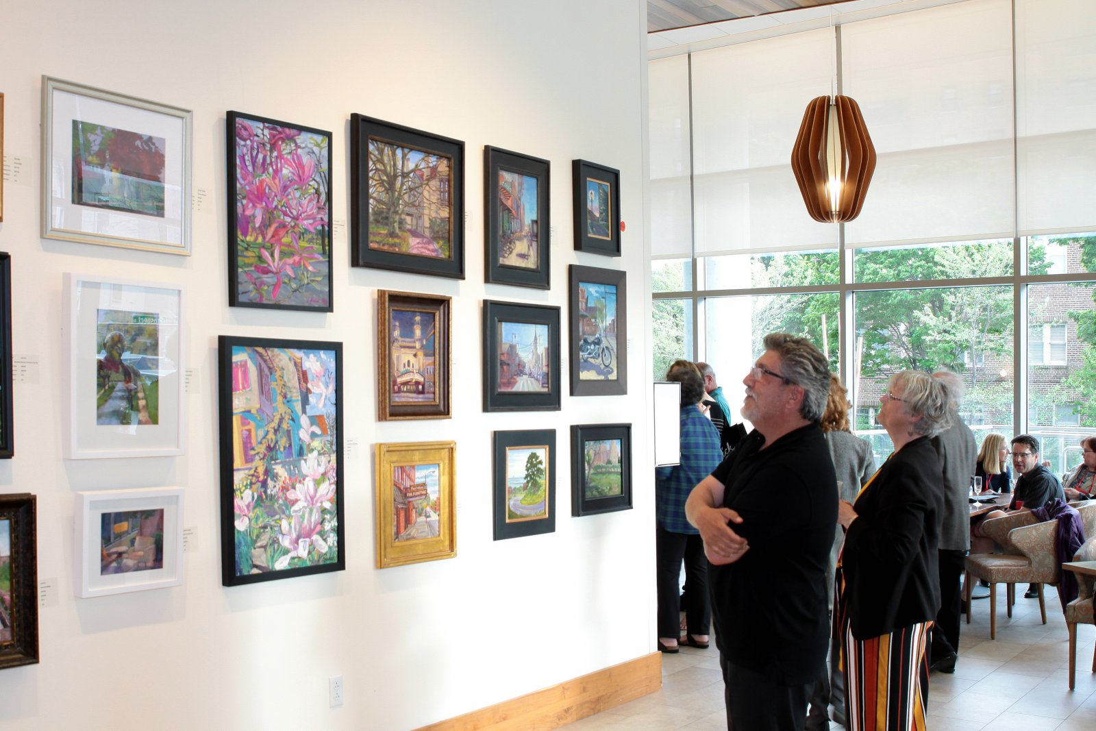 232 Paintings from Plein Air MKE at Art  in the City Soirée at Saint John\'s On The Lake.