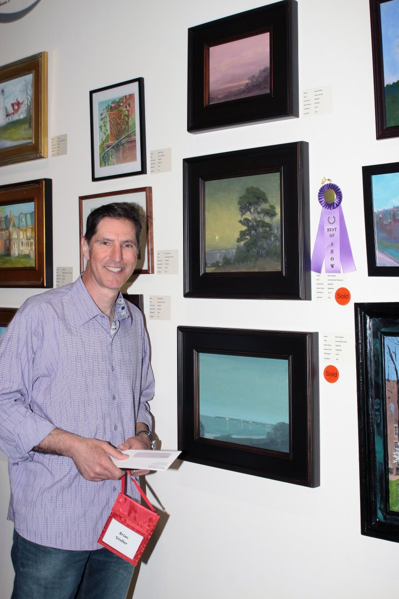 Artist Brian Sindler, won the Best of Show award at the Art in the City Soirée at Saint John\'s On The Lake - May 18, 2017.