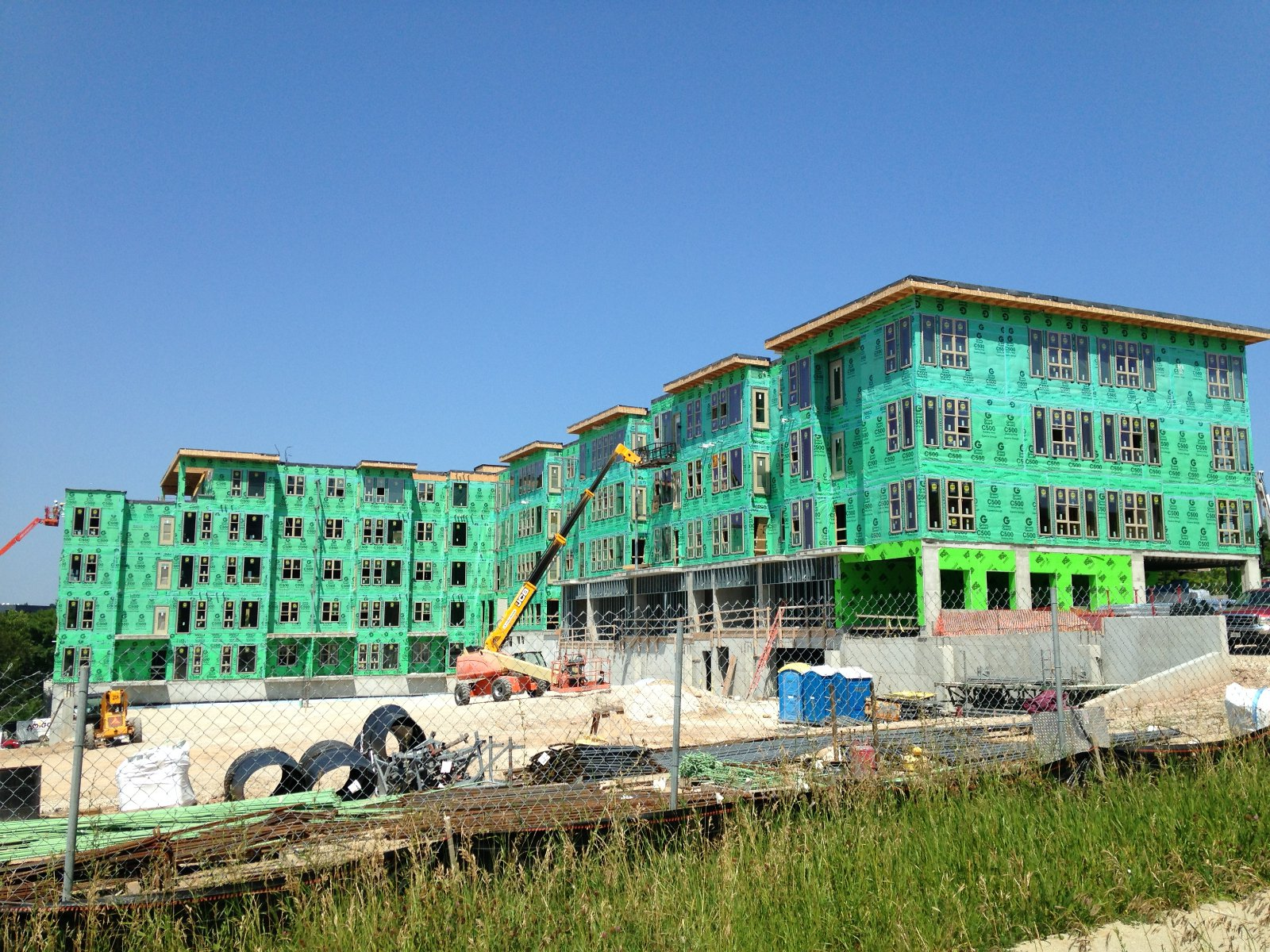 The Avenir is under construction in the Park East.
