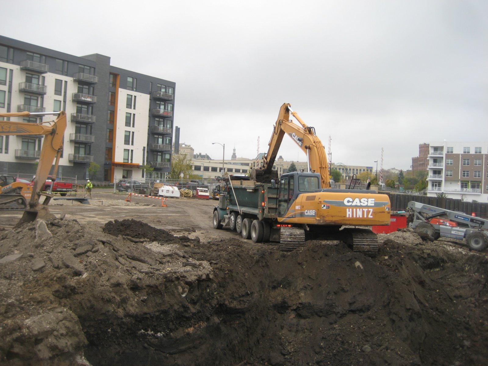 Work has started at the site.