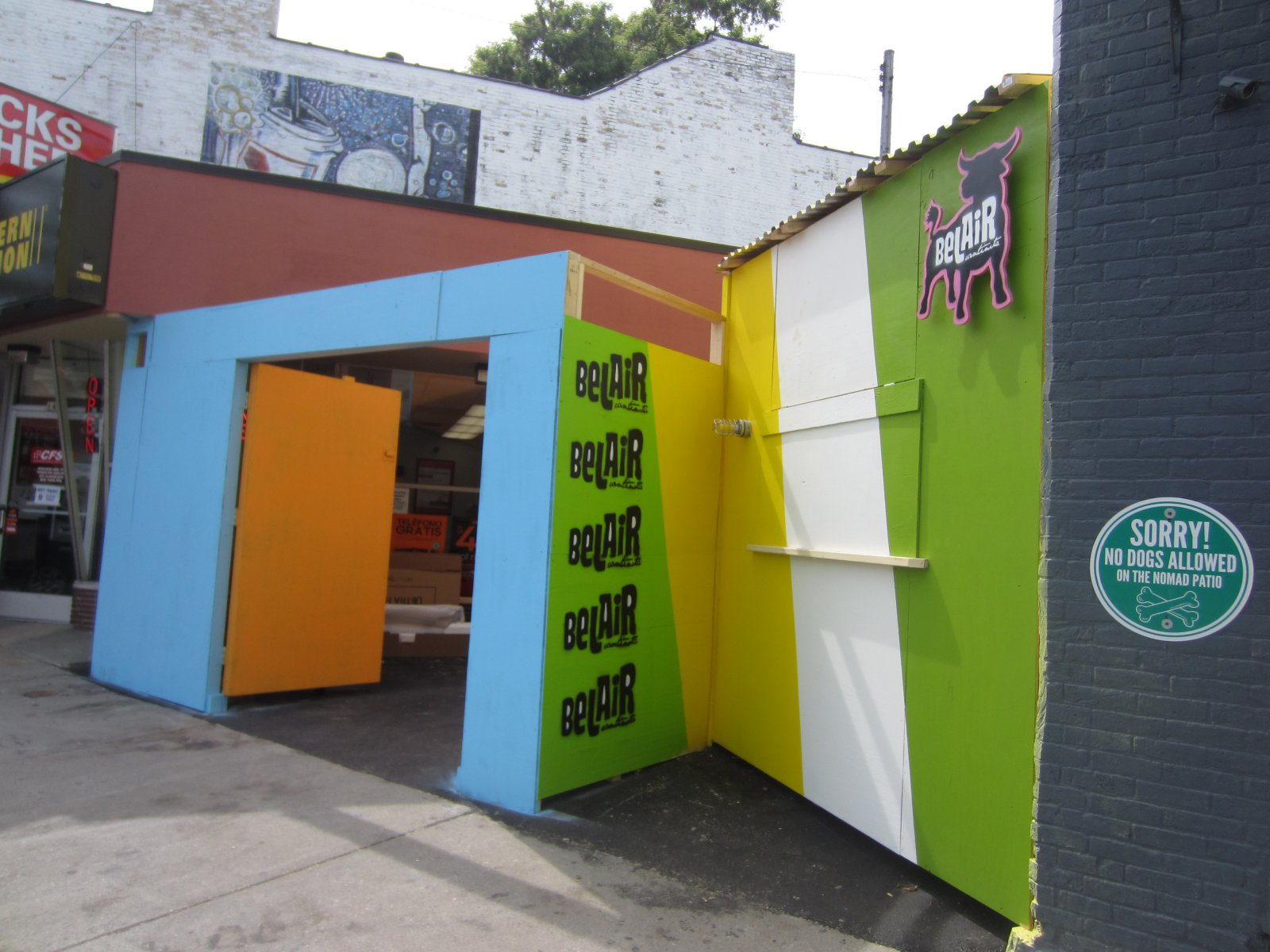 The Nomad\'s World Cup beer garden.