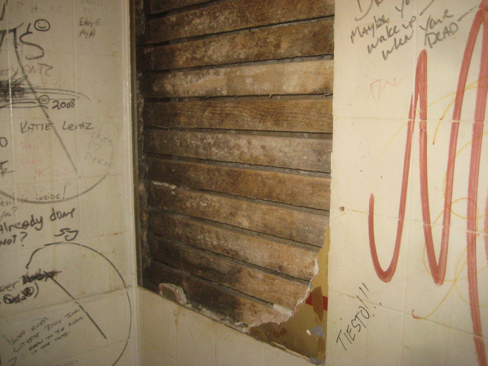 Bathroom wall at Jamo\'s