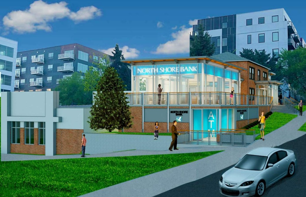 North Shore Bank Downtown Rendering