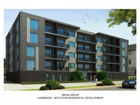 Cambridge - Boylston Residential Development Rendering Option 1
