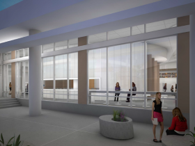 Conceptual Interior Rendering of the East Library.