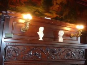 Grand fireplace.
