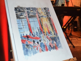Painting of the event from Katie Geis
