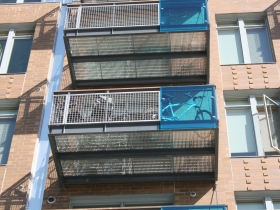 Bike on the balcony.