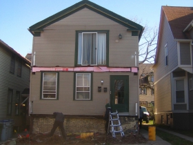 This home on N. Cass St. is undergoing a conversion from a duplex back to a single family home. Photo by Michael Horne.