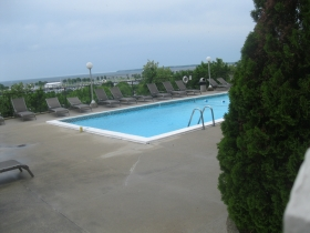 The pool at Prospect Towers.