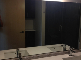Two sinks in the bathroom.