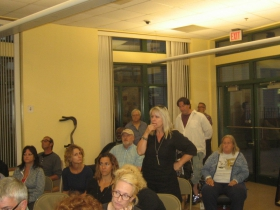 Neighbors at the community meeting.