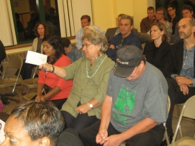 Neighbors at the community meeting