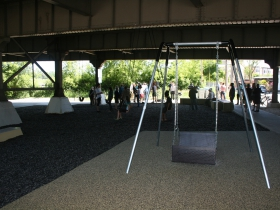 This handicap accesible swings is known as,