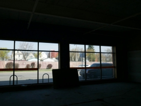 View of N. Farwell Ave. from the new space.