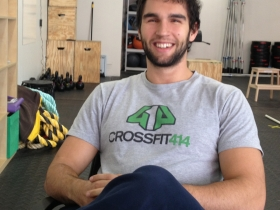 Marcus Wallace, co-owner of CrossFit 414. Photo taken by Judith Ann Moriarty.