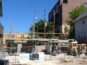 East Terrace Apartments under construction.