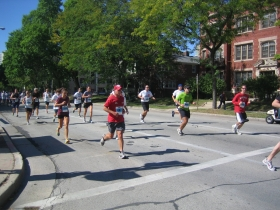 Runners on Prospect Ave