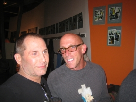 Joe Pabst [r] and a friend enjoying the party.