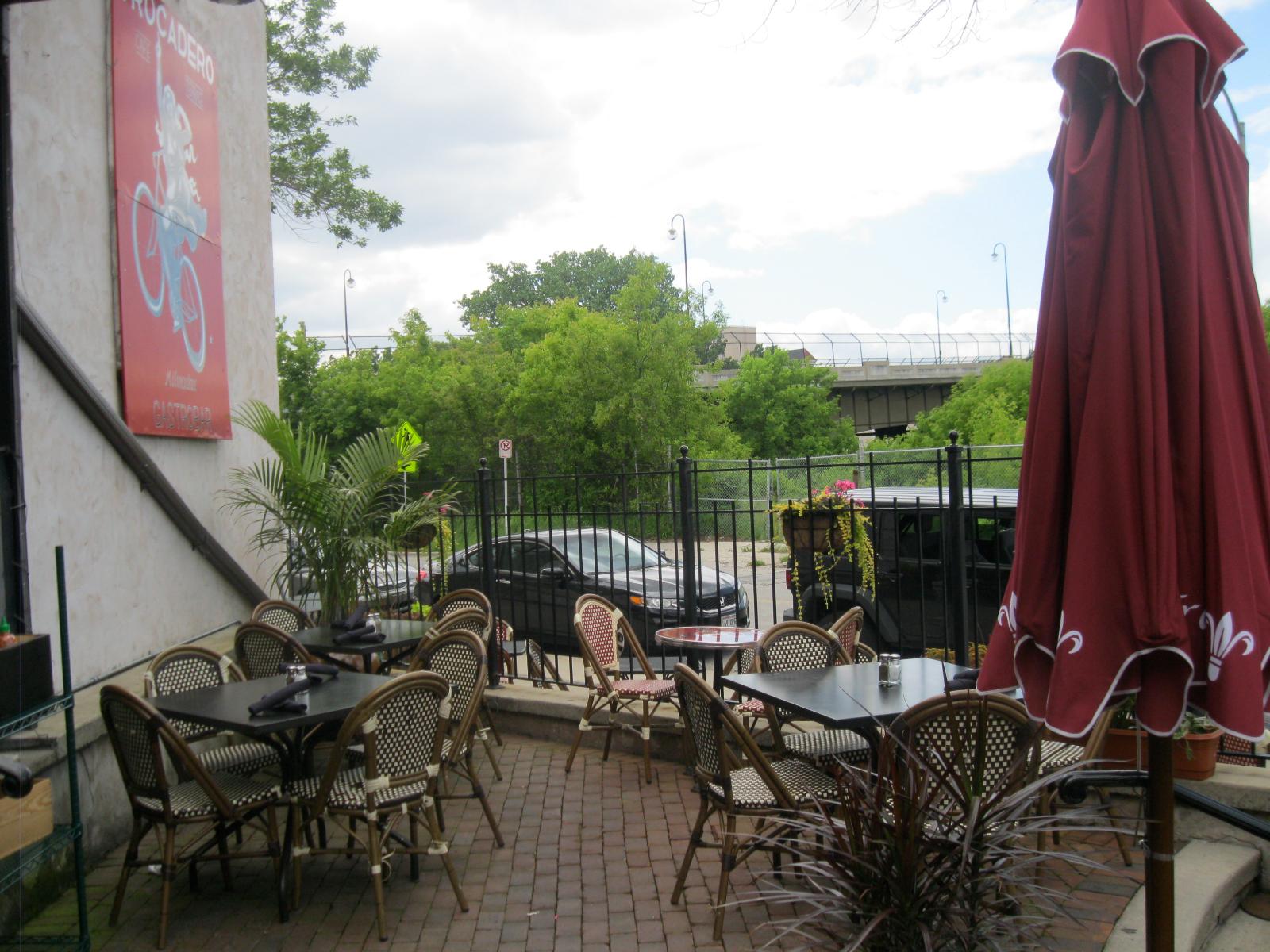 Trocadero patio. Photo taken July 1st, 2014 by Rose Balistreri.