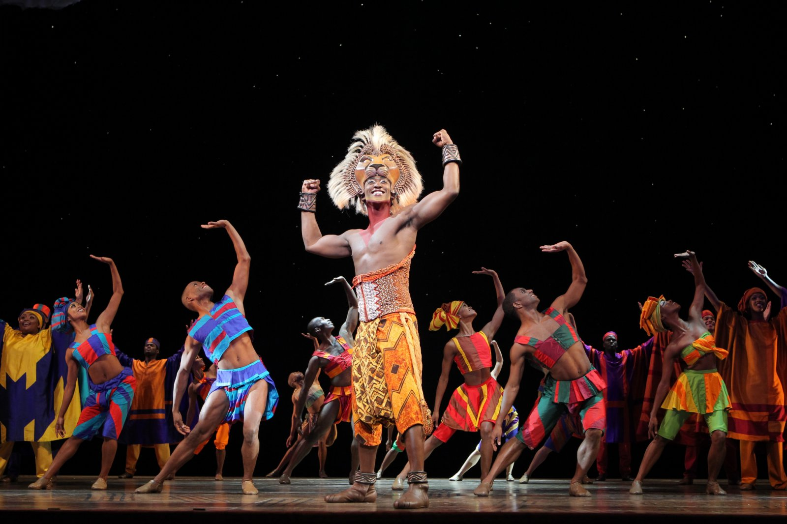 Jelani Remy as Simba and the ensemble in He Lives in You from THE LION KING National Tour.