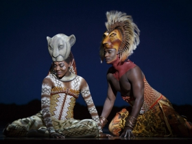 Nia Holloway as Nala and Jelani Remy as Simba in THE LION KING National Tour.