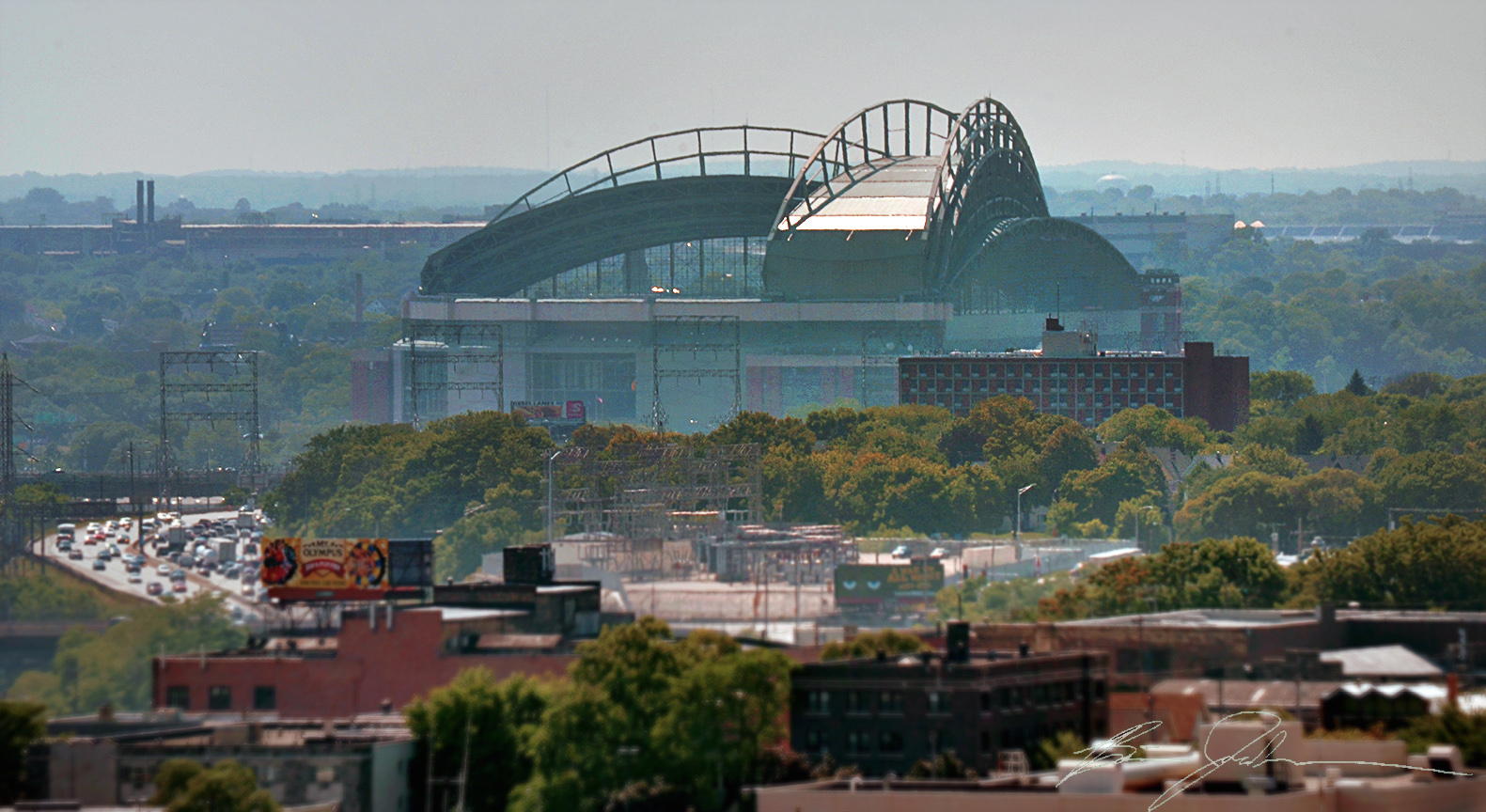 A view of Miller Park from Catholic Financial Life Building.