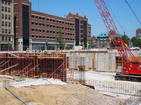Construction of Marquette's New College of Business Administration Facility