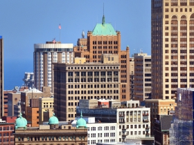 A view of East Town.