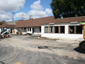 Kampus Foods just before demolition.