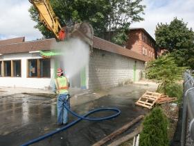 The start of demolition.
