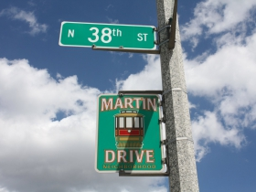 McKinley Avenue passes through the Martin Drive Neighborhood