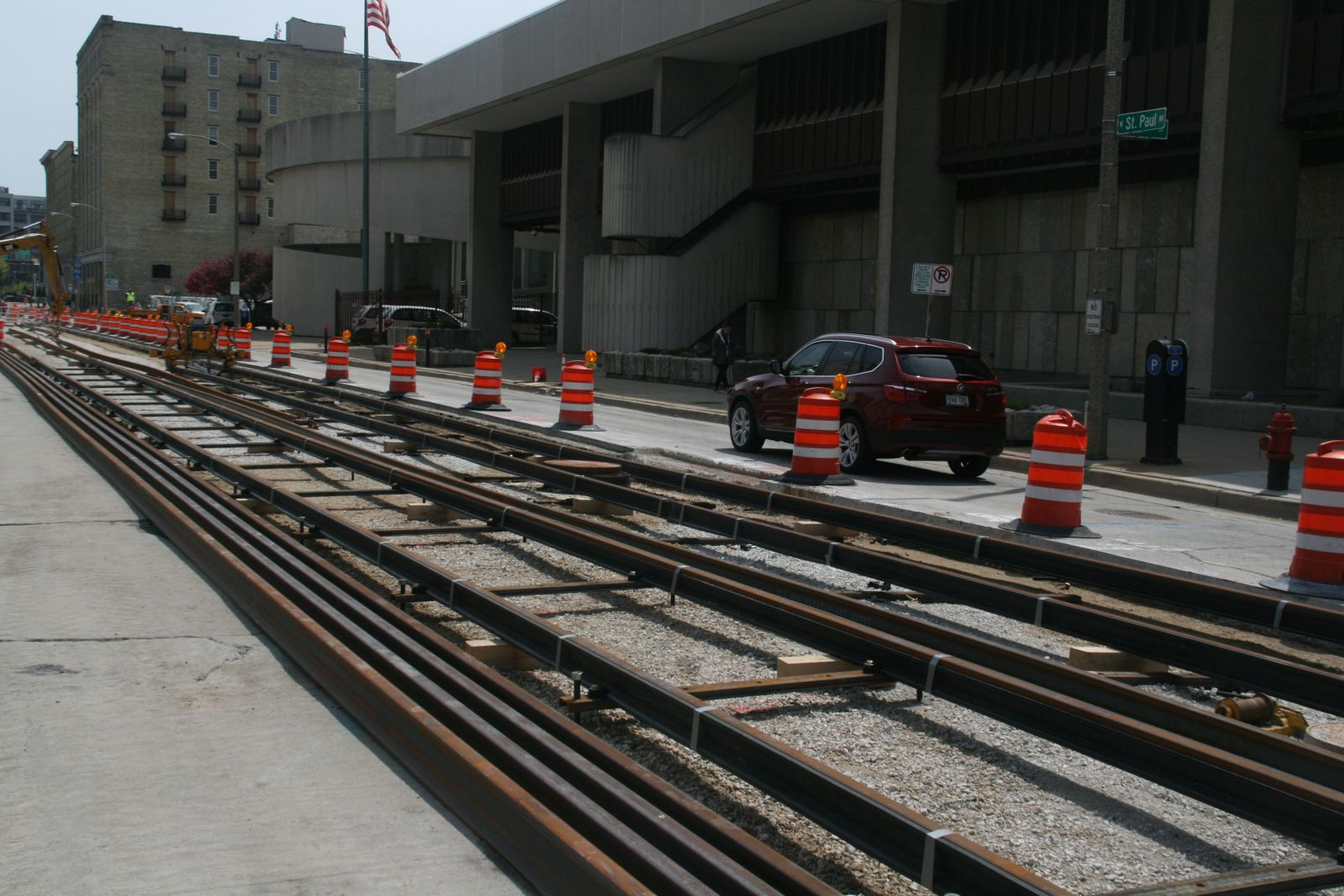 W. St. Paul Ave. Streetcar Construction