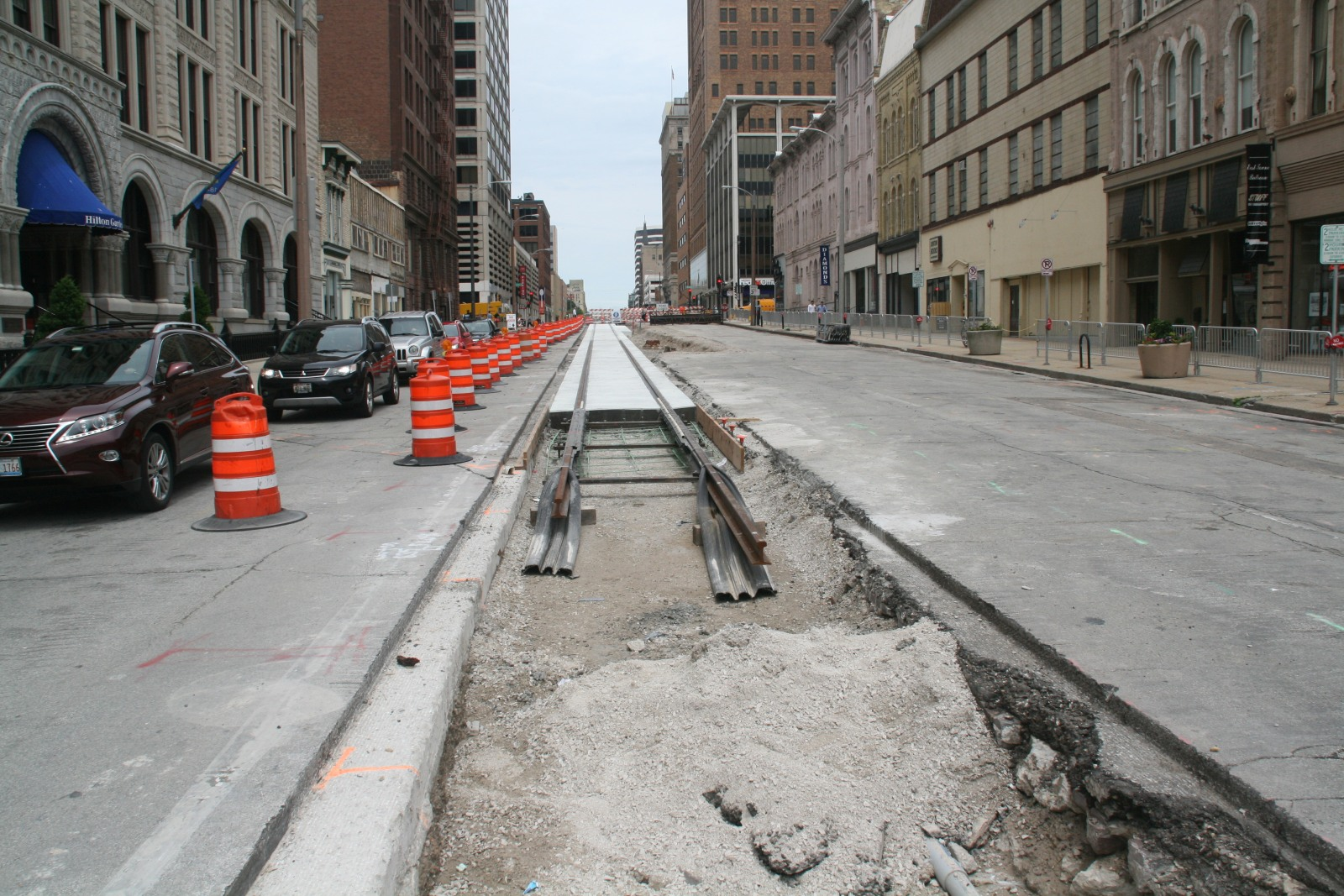 N. Broadway Streetcar Track Construction