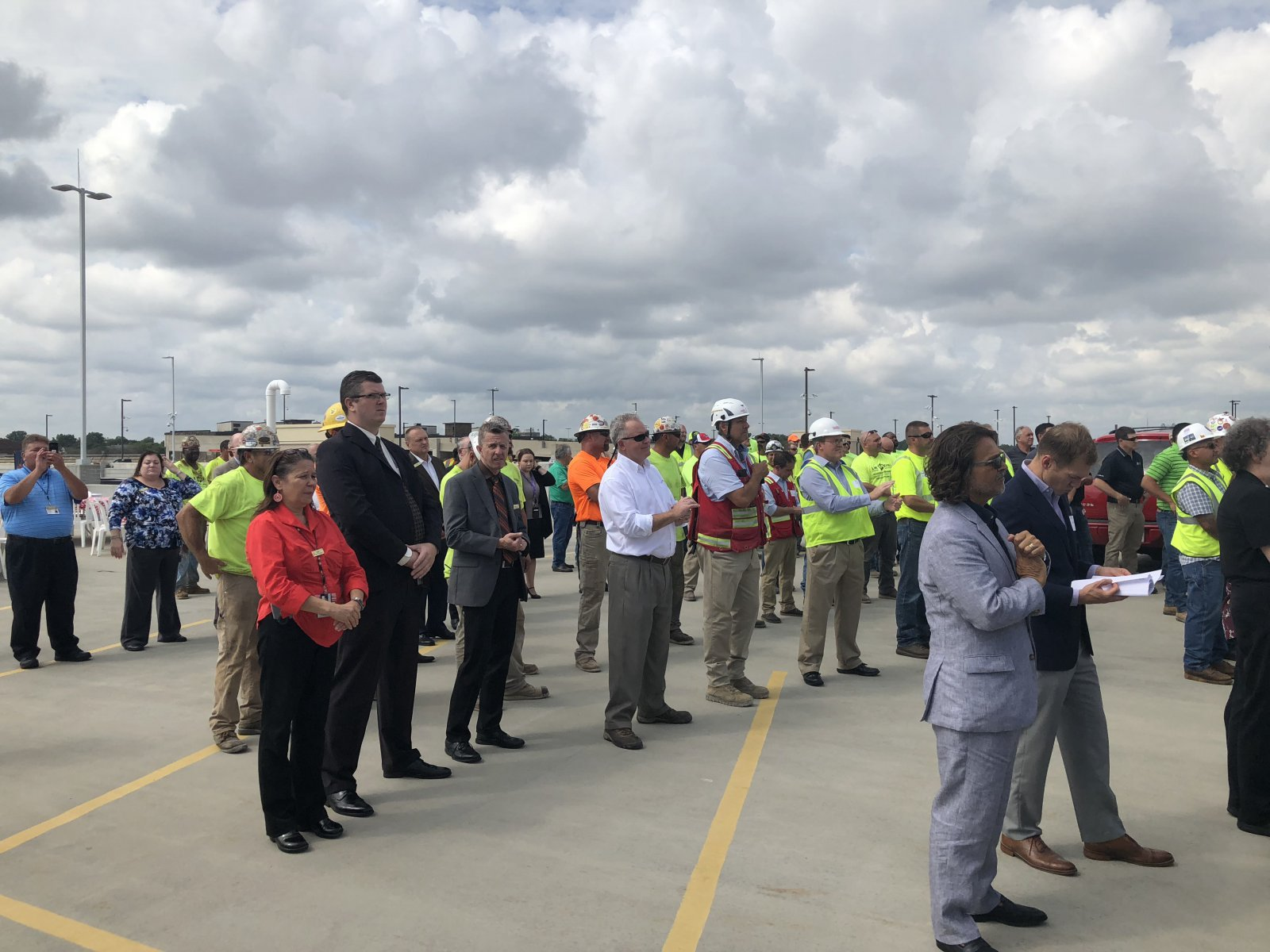 Topping Off Ceremony Crowd