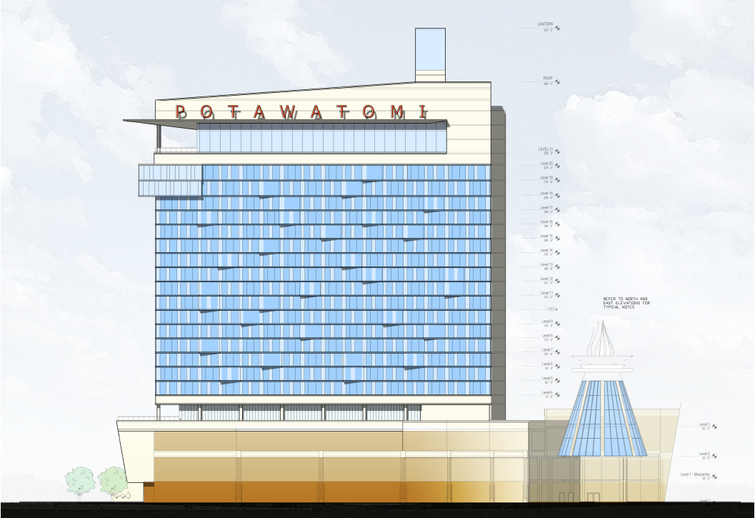 Potawatomi Casino Hotel Rendering