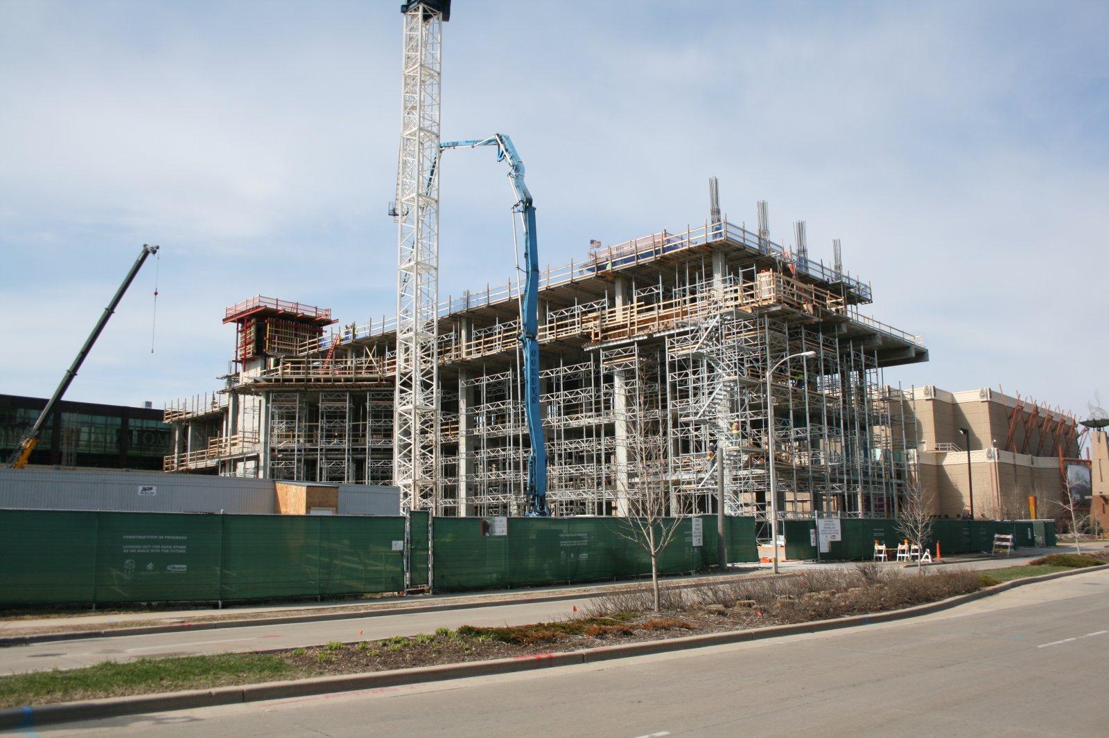 Potawatomi Casino Hotel under construction.