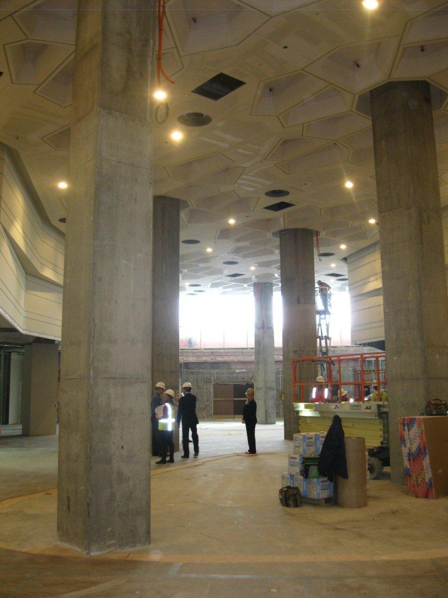 Large interior space.