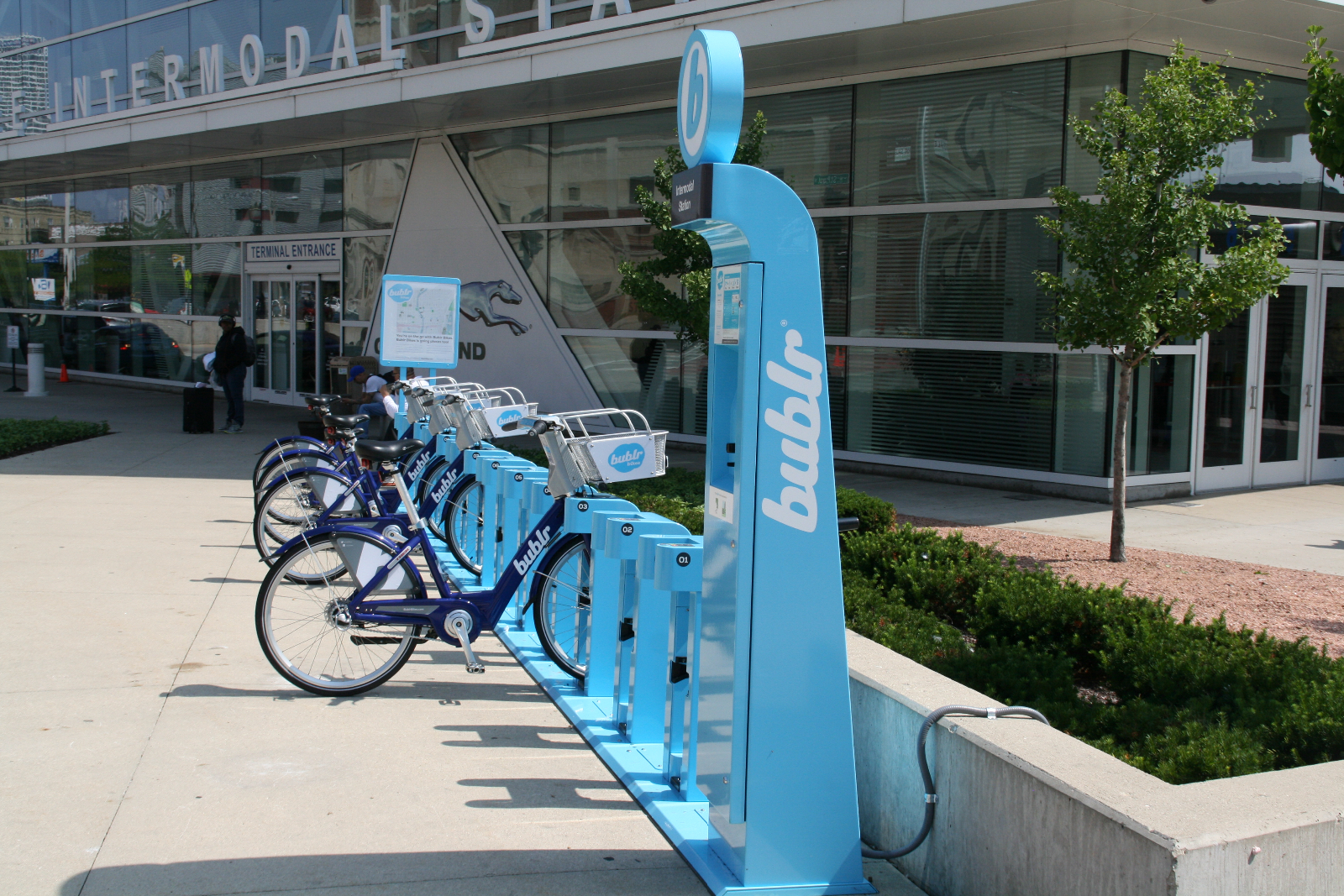 Bublr Bikes at the Milwaukee Intermodal Station