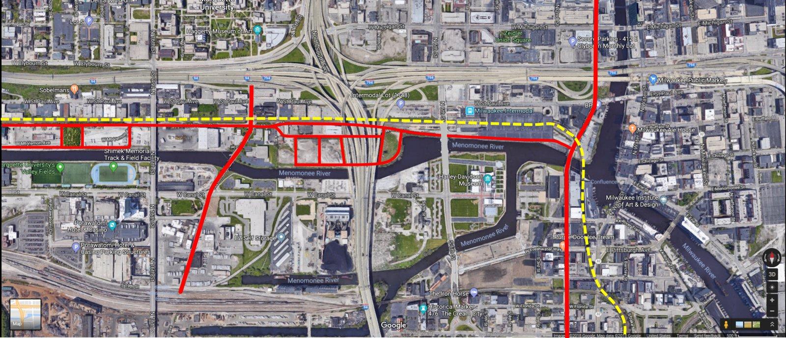 Kneeland Properties Street Connections Map