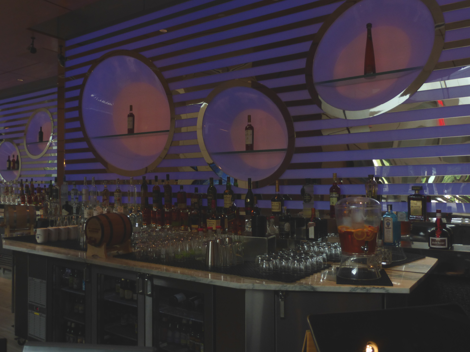 New bar in the Potawatomi Casino Hotel.