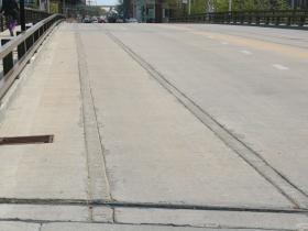 Streetcar Track Slots in St. Paul Ave. Bridge