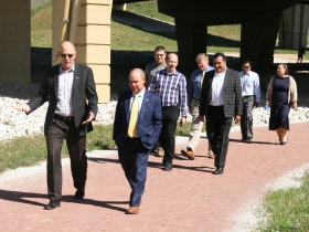 Officials Tour Green Infrastructure Project