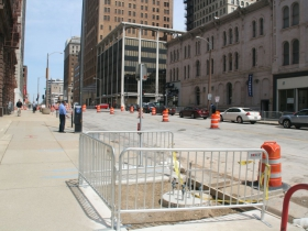 Broadway Streetcar Construction